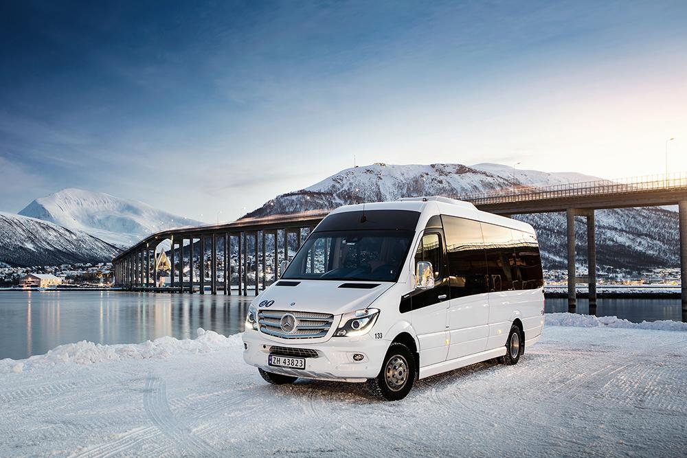 SSP * Minibuss ved Tromsøbrua